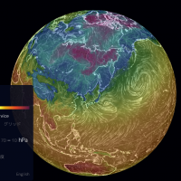 earth    an animated map of global wind  weather  and ocean conditions
